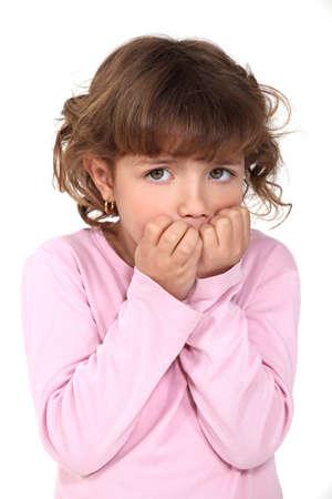 Little girl scared