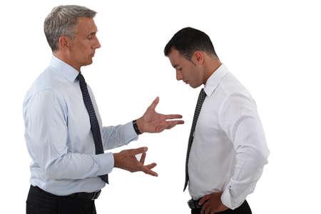 Boss telling-of employee