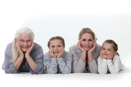 Photo pour Three generations of women  - image libre de droit