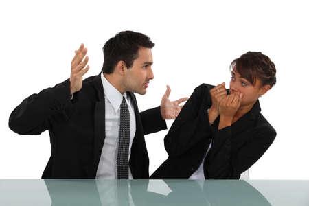 Photo pour Workplace bully - image libre de droit