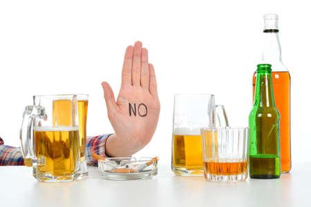 Photo pour Woman Suffering From alcoholism - image libre de droit