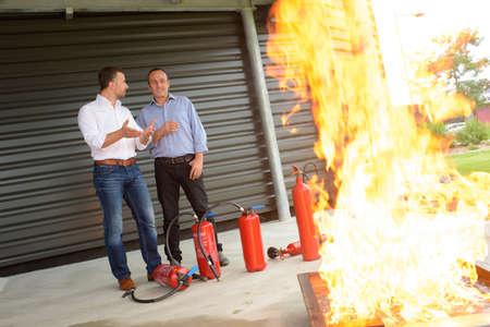 fire extinguisher demonstration