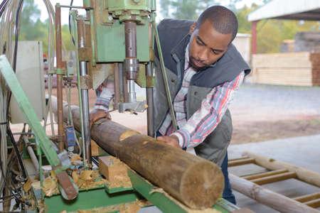 drilling a log