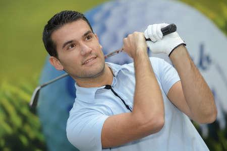 Photo pour happy golfer - image libre de droit