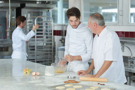 Pastry chefs at work
