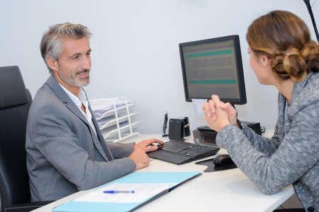 human manager choosing a new employee