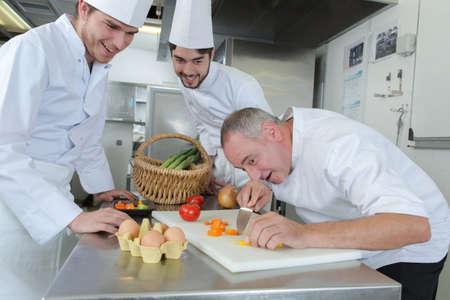 Photo pour cooking lesson - image libre de droit