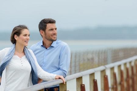 Photo pour a couple we have bridge - image libre de droit