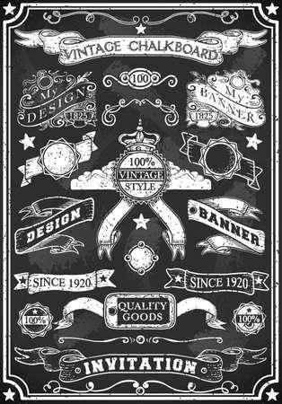 Illustration pour Detailed illustration of a Hand Drawn Blackboard Banner - image libre de droit