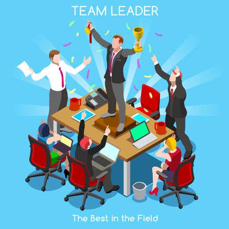 Illustration for Startup Teamwork Team Leader Office Meeting Room - Royalty Free Image