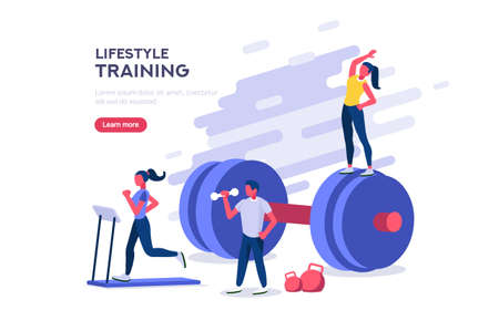 Sports entertainment a joyful leisure for young recreation with relax. Activity to strong training your energy a strength healthy power for your lifestyle as life equipment flat vector illustration.
