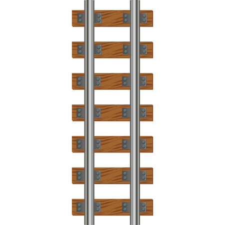 Illustration pour Train Tracks - image libre de droit
