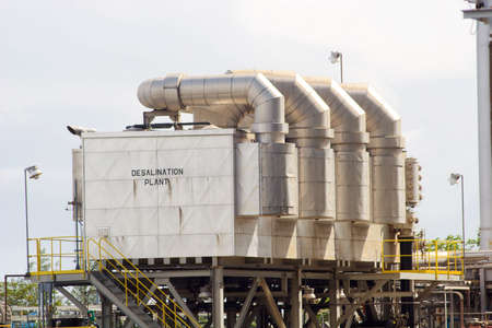 A desalination plant unit within a power generation facility