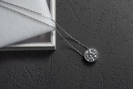 Photo pour Beautiful pendant with diamond - image libre de droit