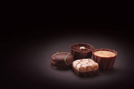 Photo pour Luxury Chocolate Candies - image libre de droit