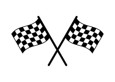 Illustration for Start icon. Race flag icon. Competition sport flag line vector icon. Racing flag. Start finish flag - Royalty Free Image