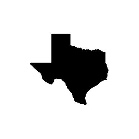 Illustration pour Texas map icon on white background, Texas symbol, Texas map. - image libre de droit