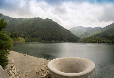 The reservoir dam Val Noci