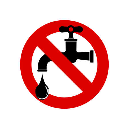 Save water sign, vector illustration. faucet icon.