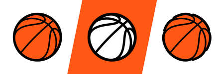 Basketball logo vector icon for streetball championship tournament, school or college team league. Vector flat basket ball symbol for basketball fan club