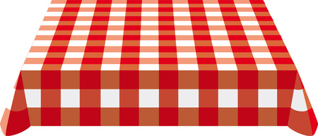 Table cloth  on the table