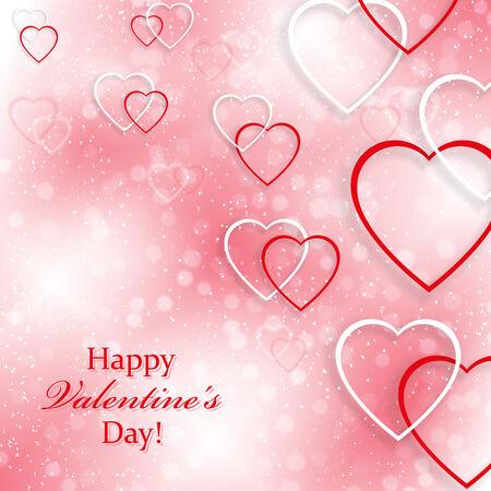 Ilustración de Background for Valentine s Day with hearts - Imagen libre de derechos