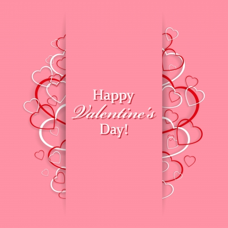 Beautiful card for Valentine s Day with hearts