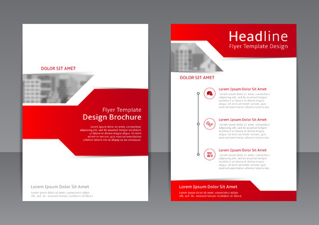 Vector template of brochure with place for picture for your business in A4 size.