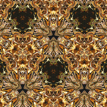 Photo pour Gold design pattern backdrop. Liquid golden effect imitation. Surreal drawing print for wall art decor as poster or canvas. - image libre de droit