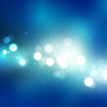 abstract blue background with blurred lights