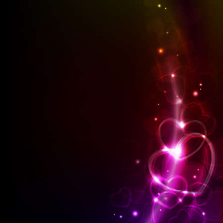 abstract valentin`s day background with hearts