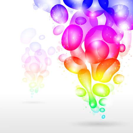 Abstract background, vector rainbow illustration.