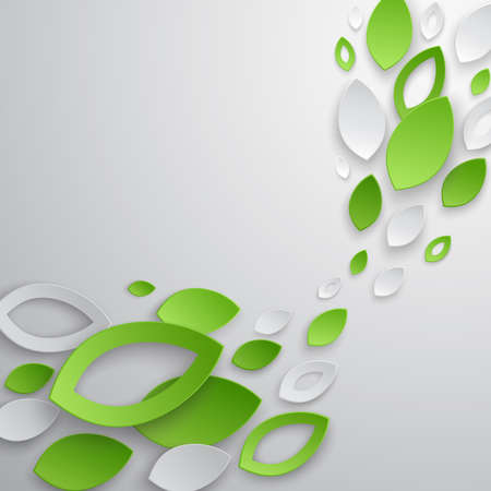 Green leaves abstract background. illustration.