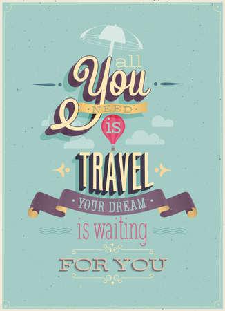 Illustration pour Vintage Travel Poster. Vector illustration. - image libre de droit