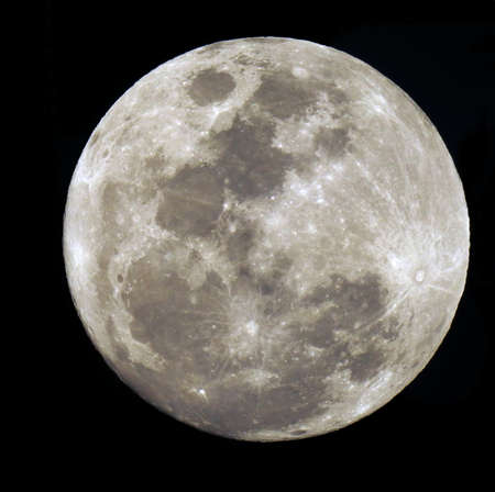 Photo for Full moon isolated on black. - Royalty Free Image