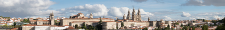 Photo pour Santiago de Compostela ultra wide panoramic view in Galicia, Spain High resolution - image libre de droit