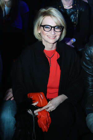 International head editor of Les Editions Jalou Paris - Evelina Khromtchenko - at the Russian Fashion Week fall winter 2011 12 - Moscow, Russia March 29, 2011