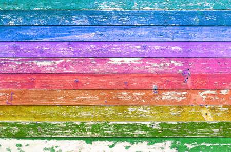 Photo pour Ð¡olorful wooden background texture. Multicolored planks wall. - image libre de droit