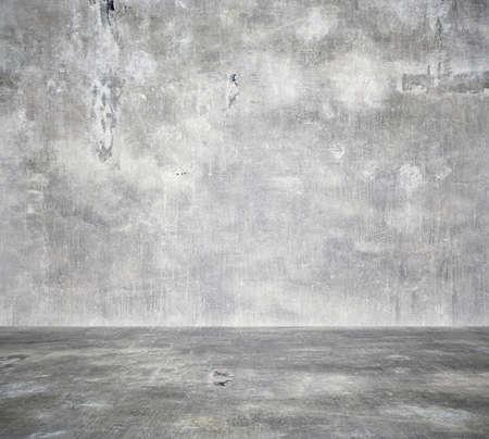 Photo pour empty room with concrete wall, grey background - image libre de droit