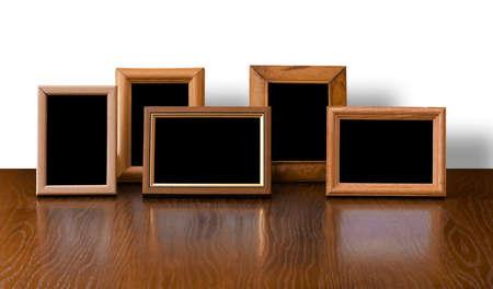 Photo pour photo frame on table, white background - image libre de droit