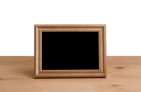 Photo for photo frame on table, white background - Royalty Free Image