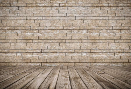Photo for old room with brick wall, vintage background - Royalty Free Image