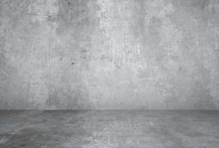 Photo pour empty room with plaster wall, gray background - image libre de droit