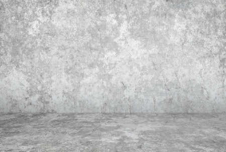 Photo for empty room with plaster wall, gray background - Royalty Free Image
