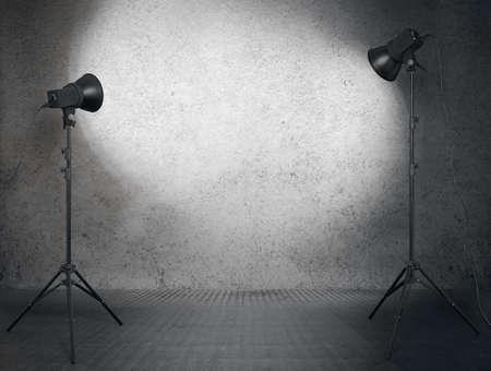Photo pour photo studio in old room - image libre de droit