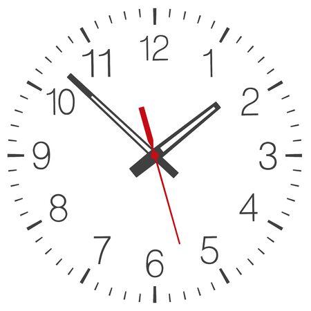 Illustration pour Clock face vector isolated - image libre de droit