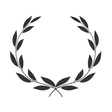 Illustration for Laurel wreath isolated on white background. Vector icon illustration. - Royalty Free Image