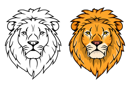 Illustration for Lion logo.Vector animal lion.King Lion isolated on white background. - Royalty Free Image
