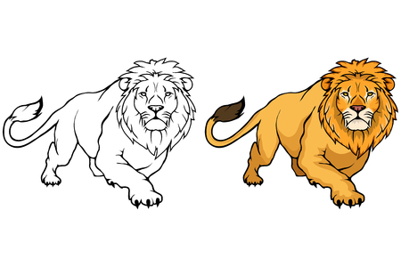 Ilustración de Lion icon vector animal lion isolated on white background. - Imagen libre de derechos