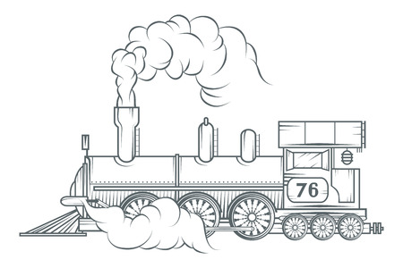 Illustration pour Old train vector graphic design. - image libre de droit